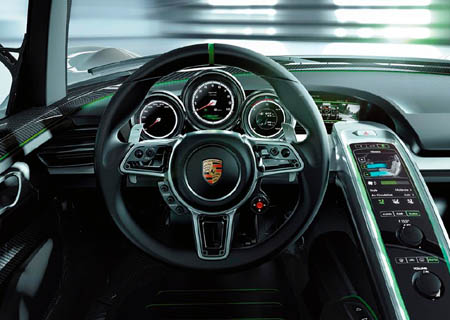 Interior Porsche 918 Spyder