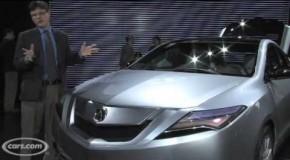 Acura ZDX: Últimos datos oficiales