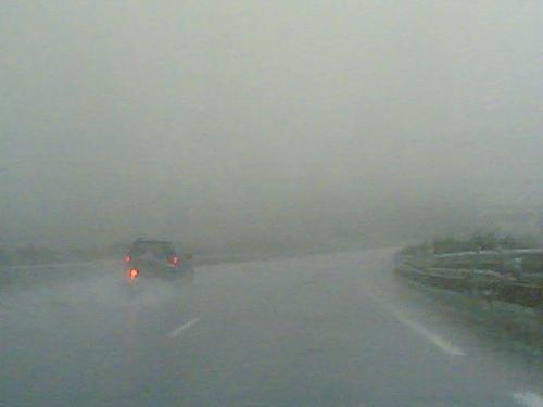Mala visibilidad por lluvia